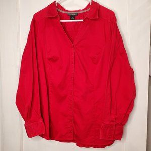Lane Bryant, Red Long Sleeve Button Down, 26